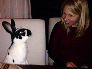 Jen Craft and rabbit
